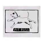 Dancing Pit Bull Throw Blanket