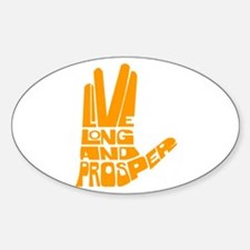 Live long and Prosper Decal