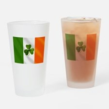 Irish Shamrock Flag Drinking Glass