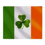 Irish flag Fleece Blankets