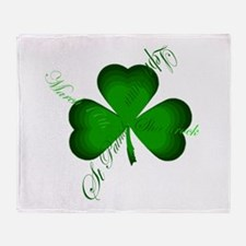 Irish Writers Shamrock Throw Blanket