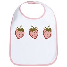 Cutie Strawberries Bib