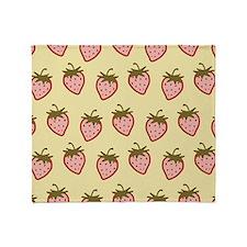 Cutie Strawberries Throw Blanket