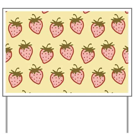Cutie Strawberries Yard Sign