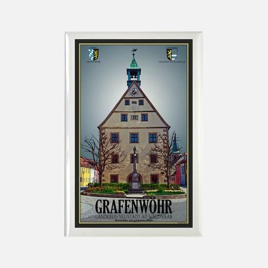 Grafenwöhr Rathaus Rectangle Magnet