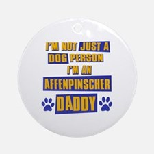 Affenpinscher Daddy Ornament (Round)