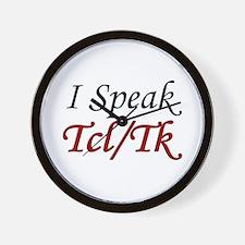 """""""I Speak Tcl/Tk"""" Wall Clock"""