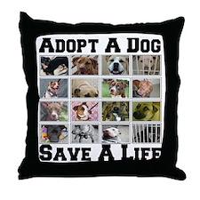 Adopt A Dog Save A Life Throw Pillow