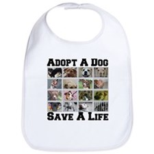 Adopt A Dog Save A Life Bib