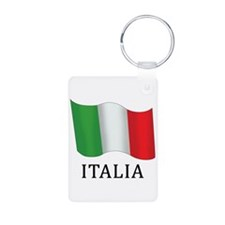Italia Flag Aluminum Photo Keychain