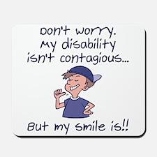 Contagious Smile (boy) Mousepad