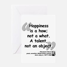 Hess Happiness Quote Greeting Card