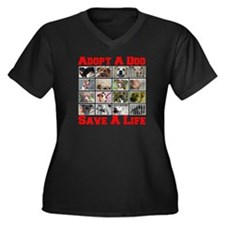 Adopt A Dog Save A Life Women's Plus Size V-Neck D