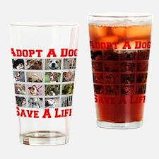 Adopt A Dog Save A Life Pint Glass