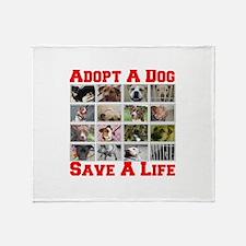 Adopt A Dog Save A Life Throw Blanket