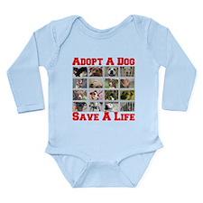 Adopt A Dog Save A Life Long Sleeve Infant Bodysui