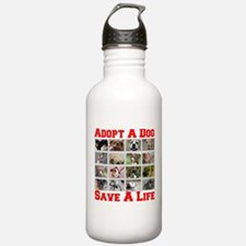 Adopt A Dog Save A Life Water Bottle