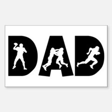 Football Dad Rectangle Decal