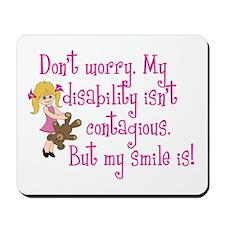 Contagious Smile (girl) Mousepad