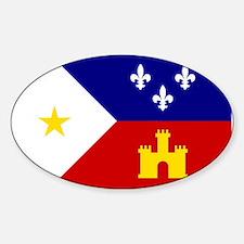 Flag of Acadiana Louisiana Decal