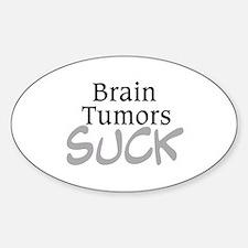 Brain Tumors Suck Oval Decal