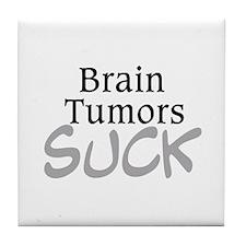 Brain Tumors Suck Tile Coaster