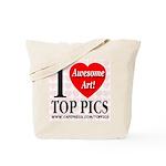 I Love Top Pics Awesome Art! Tote Bag