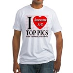 I Love Top Pics Awesome Art! Fitted T-Shirt
