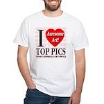 I Love Top Pics Awesome Art! White T-Shirt