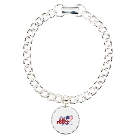 Proud Air Force Grandma - Charm Bracelet, One Char