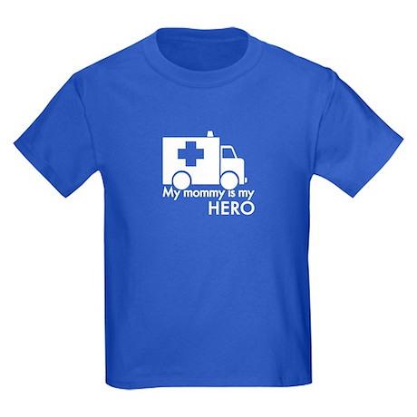 My Mommy Is My Hero Kids Dark T-Shirt