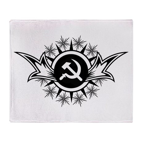 Stylized Hammer & Sickle Throw Blanket