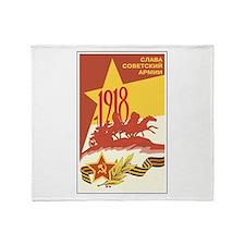 Soviet 1918 Throw Blanket