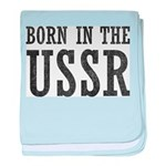 Born In The USSR baby blanket