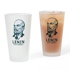 Lenin Is My Homeboy Pint Glass