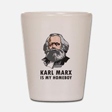 Karl Marx Is My Homeboy Shot Glass