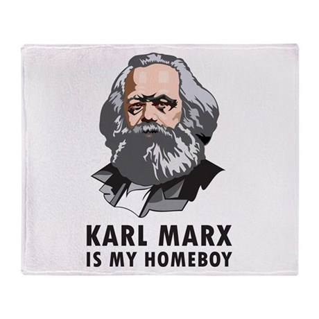 Karl Marx Is My Homeboy Throw Blanket