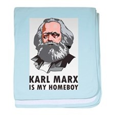 Karl Marx Is My Homeboy baby blanket