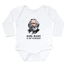 Karl Marx Is My Homeboy Long Sleeve Infant Bodysui