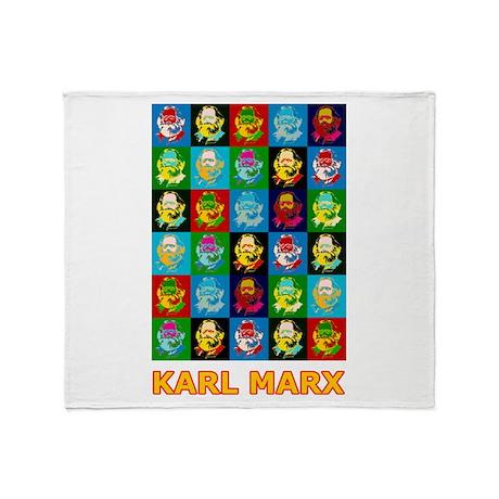 Pop Art Karl Marx Throw Blanket