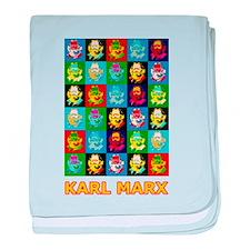 Pop Art Karl Marx baby blanket