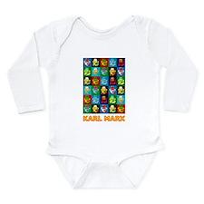 Pop Art Karl Marx Long Sleeve Infant Bodysuit