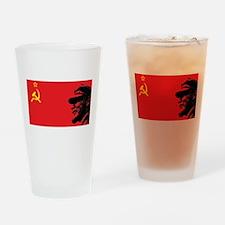 Lenin Soviet Flag Pint Glass