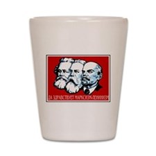 Marx, Engels, Lenin Shot Glass