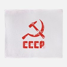 Vintage CCCP Throw Blanket