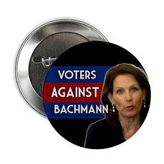 Voters Against Bachmann campaign button