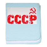 Vintage CCCP baby blanket