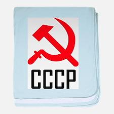 CCCP baby blanket