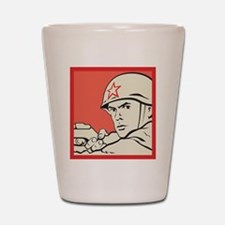 USSR Soldier Shot Glass