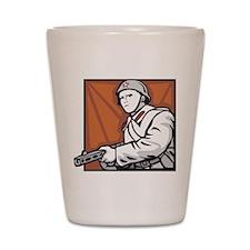 Soviet Soldier Shot Glass